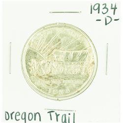 1934-D Oregon Trail Commemorative Half Dollar Coin