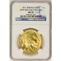 2011 $50 American Buffalo Gold Coin NGC MS70 Early Releases