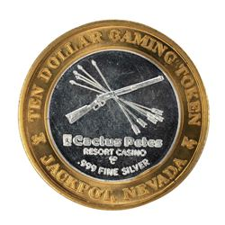 .999 Silver Cactus Petes Resort Casino Jackpot, NV $10 Gaming Token Limited Edition