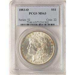 1883-O $1 Morgan Silver Dollar Coin PCGS MS63 Amazing Rainbow Toning
