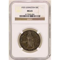 1925 Lexington-Concord Sesquicentennial Half Dollar Commemorative Coin NGC MS65