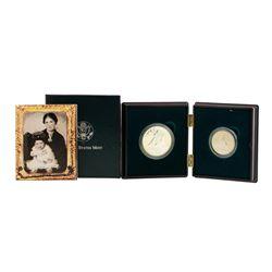1995 Civil War Battlefield Commemorative (2) Coin Set w/Box & COA