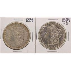 Lot of 1889-O & 1889 $1 Morgan Silver Dollar Coins