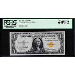 1935A $1 North Africa Silver Certificate WWII Emergency Note PCGS Choice New 64PPQ