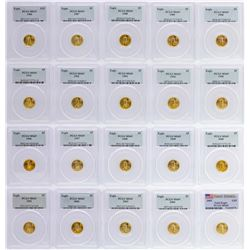 Set of 1986-2005 $5 American Gold Eagle Coins PCGS MS69