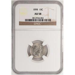 1898 Barber Dime Coin NGC AU58