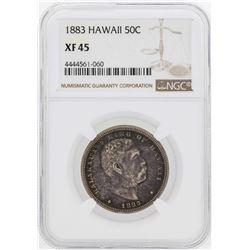 1883 Kingdom of Hawaii Half Dollar Coin NGC XF45