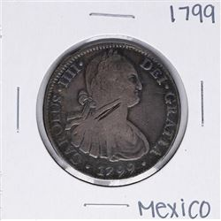 1799 MoFM Mexico 8 Reales Silver Coin