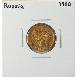 1900 Russia 5 Rubles Gold Coin
