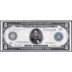 1914 $5 Federal Reserve Note San Francisco