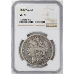 1880-CC $1 Morgan Silver Dollar Coin NGC VG8