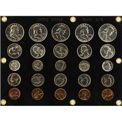 Lot of 1950-1954 (5) Coin Proof Sets