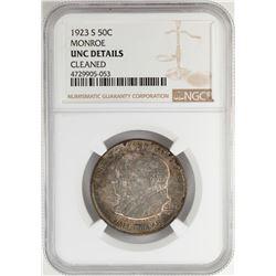 1923-S Monroe Doctrine Commemorative Half Dollar Coin NGC UNC Details