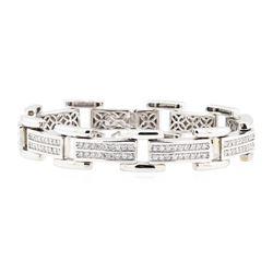14KT White Gold 4.00 ctw Diamond Bracelet