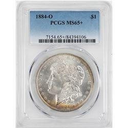 1884-O $1 Morgan Silver Dollar Coin PCGS MS65+
