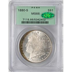 1880-S $1 Morgan Silver Dollar Coin PCGS MS66 CAC OGH Nice Toning