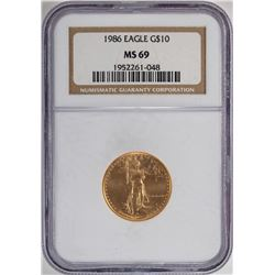 1986 $10 American Gold Eagle Coin NGC MS69