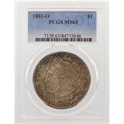 1881-O $1 Morgan Silver Dollar Coin PCGS MS63