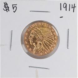 1914 $5 Liberty Head Half Eagle Gold Coin