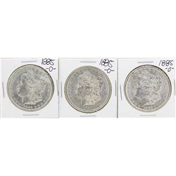 Lot of (3) 1885-O $1 Morgan Silver Dollar Coins