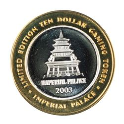 .999 Silver Imperial Palace Hotel & Casino Las Vegas $10 Limited Edition Gaming Token