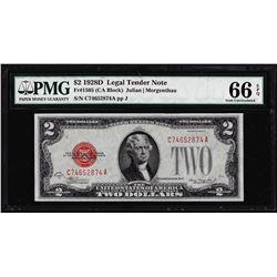 1928D $2 Legal Tender Note Fr.1505 PMG Gem Uncirculated 66EPQ