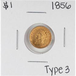 1856 Type 3 $1 Indian Princess Head Gold Dollar Coin