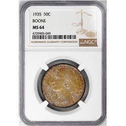 1935 Boone Commemorative Half Dollar Coin NGC MS64 Nice Toning