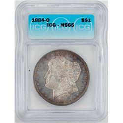 1884-O $1 Morgan Silver Dollar Coin ICG MS65