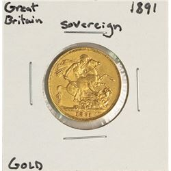 1891 Great Britain Sovereign Gold Coin