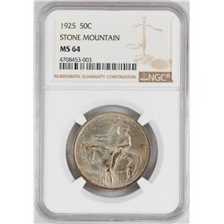 1925 Stone Mountain Memorial Commemorative Half Dollar Coin NGC MS64