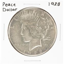 1928 $1 Peace Silver Dollar Coin