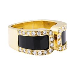18KT Yellow Gold 0.60 ctw Diamond Ring