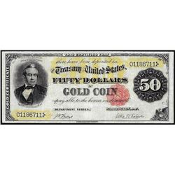 1882 $50 Gold Certificate Note