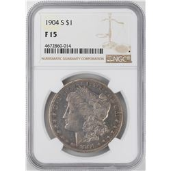 1904-S $1 Morgan Silver Dollar Coin NGC F15