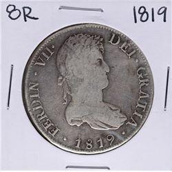 1819-PJ Bolivia 8 Reales Ferdin VII Silver Coin