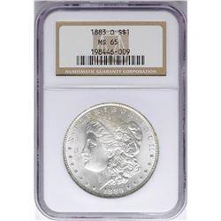 1883-O $1 Morgan Silver Dollar Coin NGC MS65