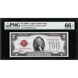 1928F $2 Legal Tender Note Fr.1507 PMG Gem Uncirculated 66EPQ