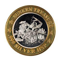 .999 Fine Silver Sunken Treasure Luxury Cruise $10 Limited Edition Gaming Token