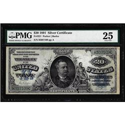 1891 $20 Manning Silver Certificate Note Fr.321 PMG Very Fine 20