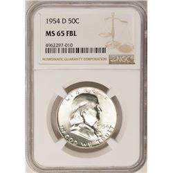 1954-D Franklin Half Dollar Coin NGC MS65FBL