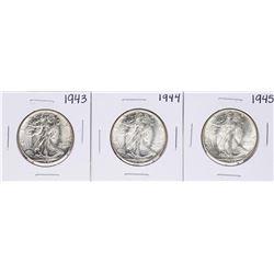 Lot of 1943-1945 Walking Liberty Half Dollar Coins