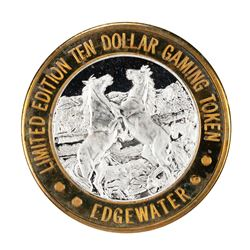 .999 Silver Edgewater Hotel & Casino Laughlin, NV $10 Limited Edition Gaming Token