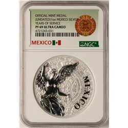 Undated Mexico Silver Official Mint Medal NGC PF69 Ultra Cameo