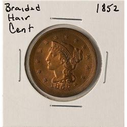1852 Braided Hair Large Cent Coin