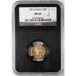 2013 $5 American Gold Eagle Coin NGC MS69