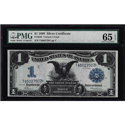 1899 $1 Black Eagle Silver Certificate Note Fr.228 PMG Gem Uncirculated 65EPQ