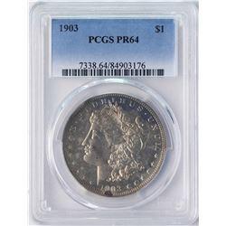 1903 $1 Proof Morgan Silver Dollar Coin PCGS PR64