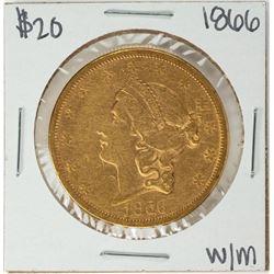 1866 Motto $20 Liberty Head Double Eagle Gold Coin