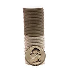 Roll of (20) 1954-P & (20) 1954-D Brilliant Uncirculated Washington Quarter Coins